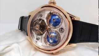 Montblanc Villeret Tourbillon Cylindrique Geospheres Vasco da Gama - in action