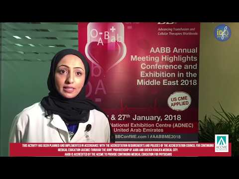 Dr. Hiba AlHumaidan is inviting all targeted audience to the AABB Conference Middle East 2018