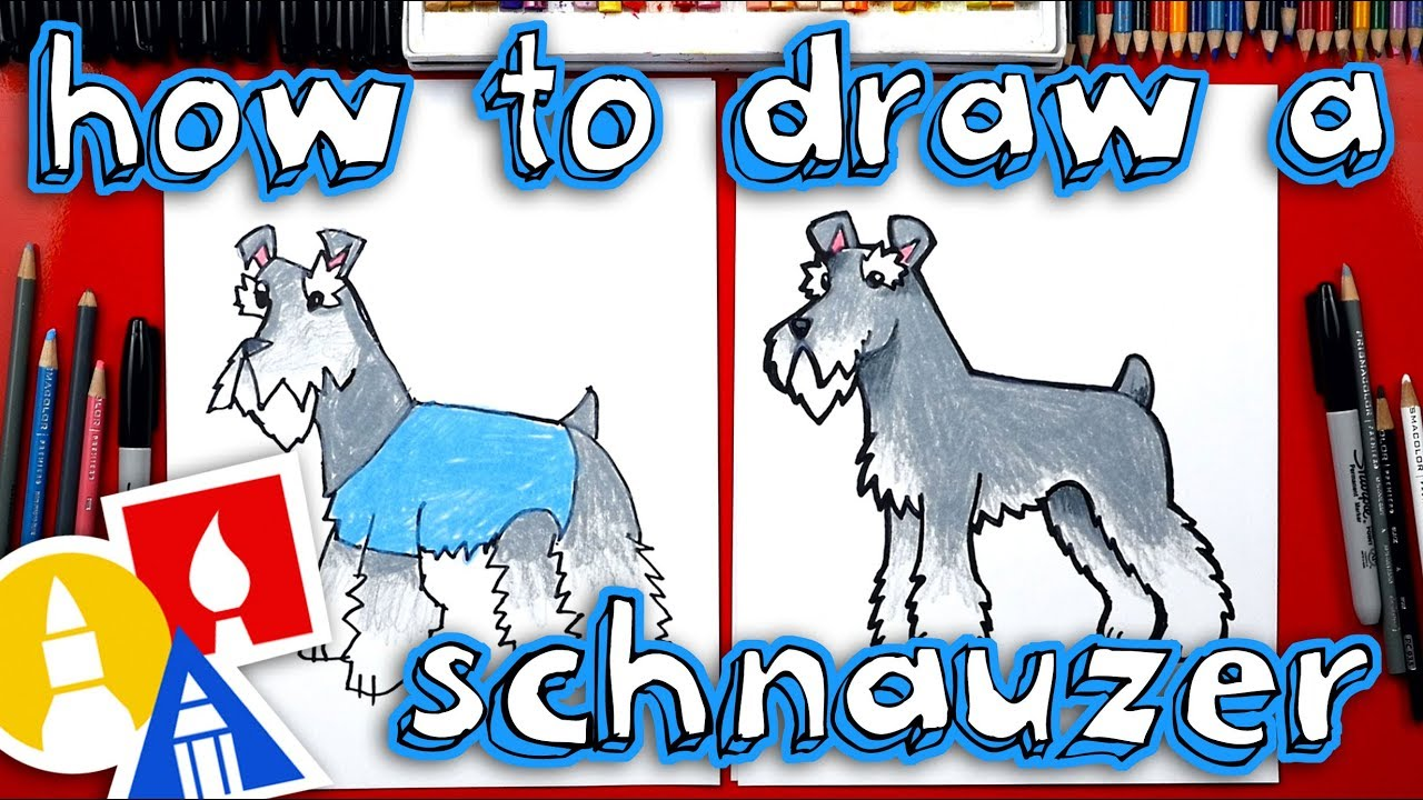 Schnauzer Drawing Easy: How To Draw A Schnauzer