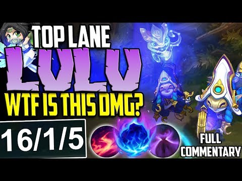 NEW SKIN COSMIC ENCHANTRESS LULU TOP LANE | WTF IS THIS DMG? | Lulu vs New Akali TOP S8 PBE Gameplay