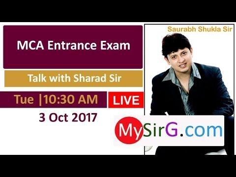 MCA Entrance Exam| Talk with Sharad Sir | LIVE  (in Hindi)