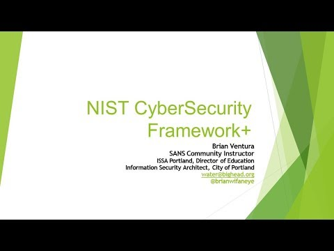 CSS2017 Session 14 SANS Training - NIST Cyber Security Framework