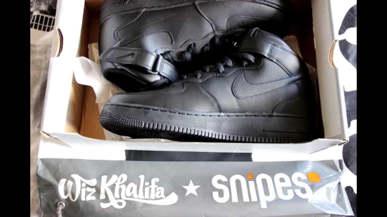82c0a0d8b4dbed Unboxing Nike Airforce 1 deutsch. Dark Pr3dator