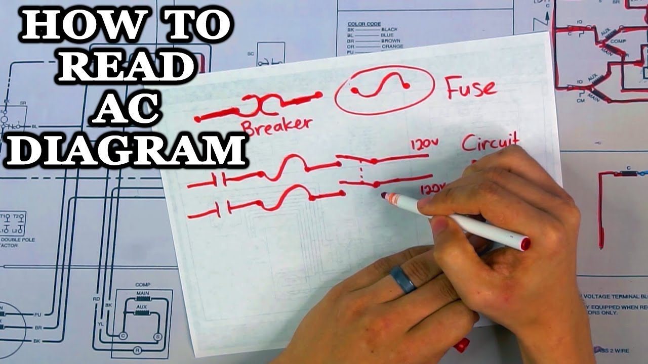 How To Read Ac Wiring Diagram Youtube