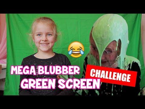 MEGA BLUBBER GREEN SCREEN CHALLENGE!! ♥DeZoeteZusjes♥