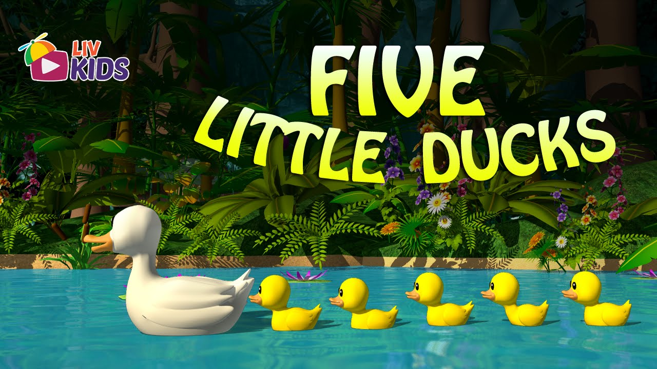 five little ducks with lyrics