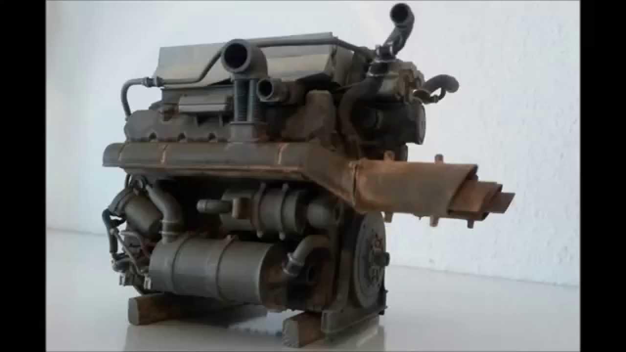 king tiger / königstiger maybach hl230 engine model 1/16 - youtube
