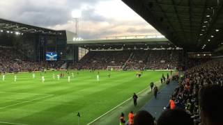 West Brom fans sing The Liquidator v Chelsea