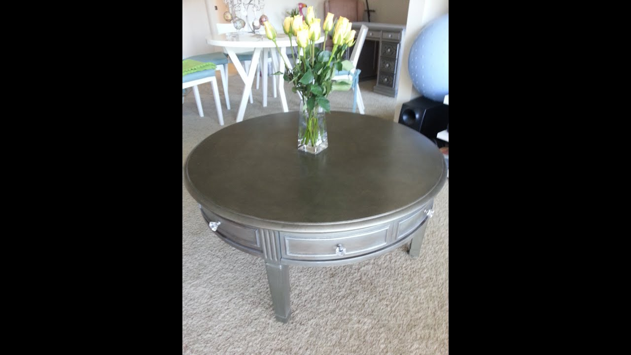 furniture makeover silver modern style - youtube