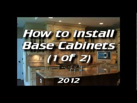 How To Install Kitchen Cabinets - Installing Base Cabinets 1 of 4