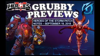 Grubby | Heroes of the Storm - Grubby Previews - Patch Note - September 19th 2018