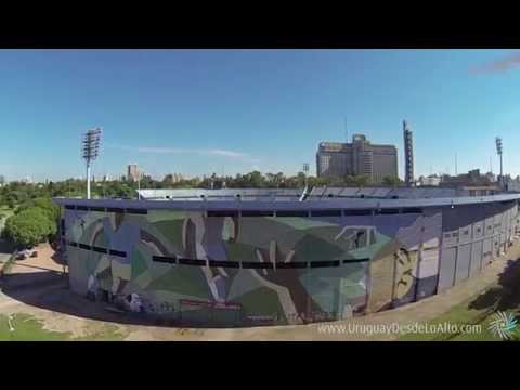 Video aéreo del Estadio Centenario, Montevideo,, Uruguay Desde Lo Alto