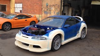 Mitsubishi Evolution 9  4g63 turbo mivec engine inside 1999 Eclipse 2G