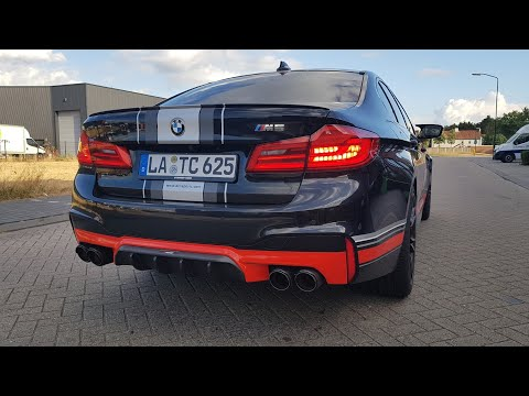 BMW M5 F90 With Akrapovic Exhaust LOUD Revs & SOUNDS!