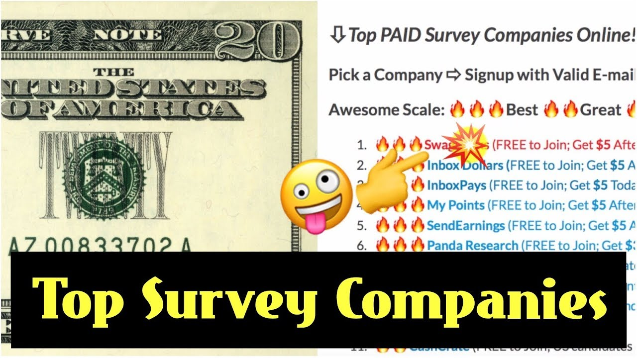 📮Fun Surveys | Get Paid $20 Today | Top Paid Survey Companies to Make  Extra Money in Your Spare Time