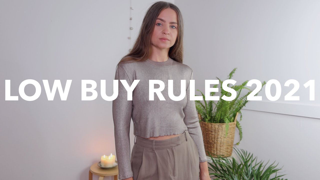 BUY LESS CLOTHES in 2021 | LOW BUY YEAR + MINIMALIST style CHALLENGE