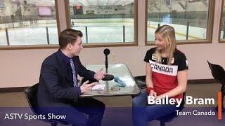 Olympic silver medalist Bailey Bram on the ASTV Sports Show