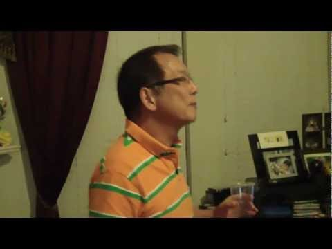 Karaoke Party- Amy and William singing Last Night Stars.MP4