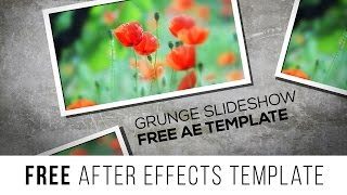 "FREE After Effects Template ""Grunge Slideshow 4K"""