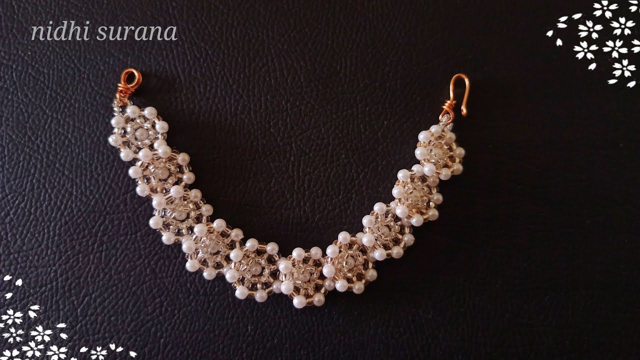 ⚜️Glittering Little Diamonds, Pearl Gajra (मोती गजरा)/ Bracelet/Choker/Necklace/Pulsera/Tutorial diy