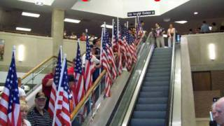 Patriot Guard Riders Welcomes Honor Flight back to Mobile, AL