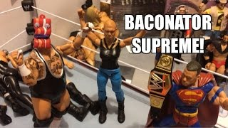GTS WRESTLING: Bacon Bout! WWE Figure matches Animation! Mattel Elites PPV Event!