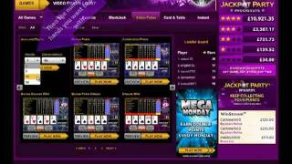 JACKPOT PARTY 'HOW TO PLAY VIDEO POKER ACES & EIGHTS'  VIDEO TUTORIAL