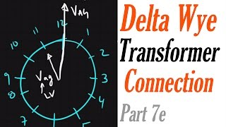 Introduction to the Delta Wye Transformer Connection Part 7e: Clock System using voltage