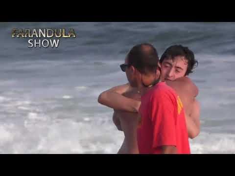 El rescate de un padre y su hijo que casi se ahogan en José Ignacio