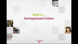 HeritageQuest Online Genealogy Research in 2 Minutes