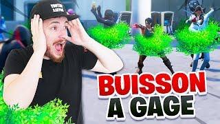 LE JEU DU BUISSON A GAGE SUR FORTNITE !!