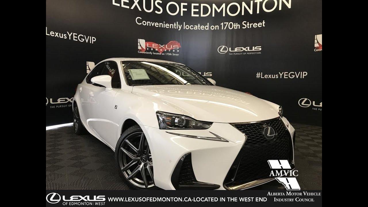 White 2019 Lexus Is 300 F Sport Series 2 Review Central Edmonton