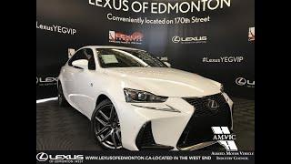 White 2019 Lexus IS 300 F Sport Series 2 Review Edmonton Alberta - Lexus of Edmonton New