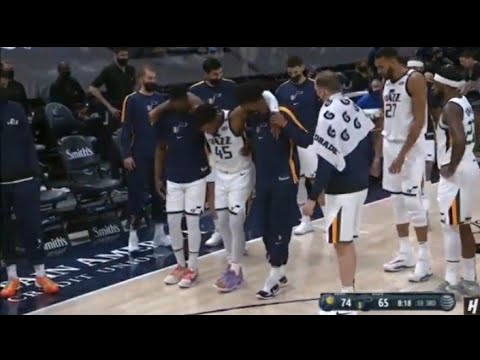 Jazz's Donovan Mitchell suffers right ankle sprain vs. Pacers