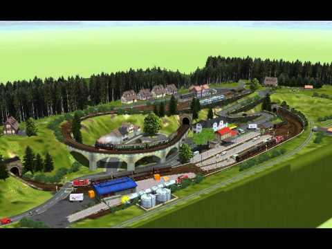 EEP-X Tutorial 58 - Marklin Layout 68 With New Control - Model Train Simulator
