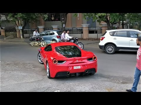 Actor Naga Chaitanya DRIVING his New FERRARI 488 GTB in Hyderabad(INDIA)