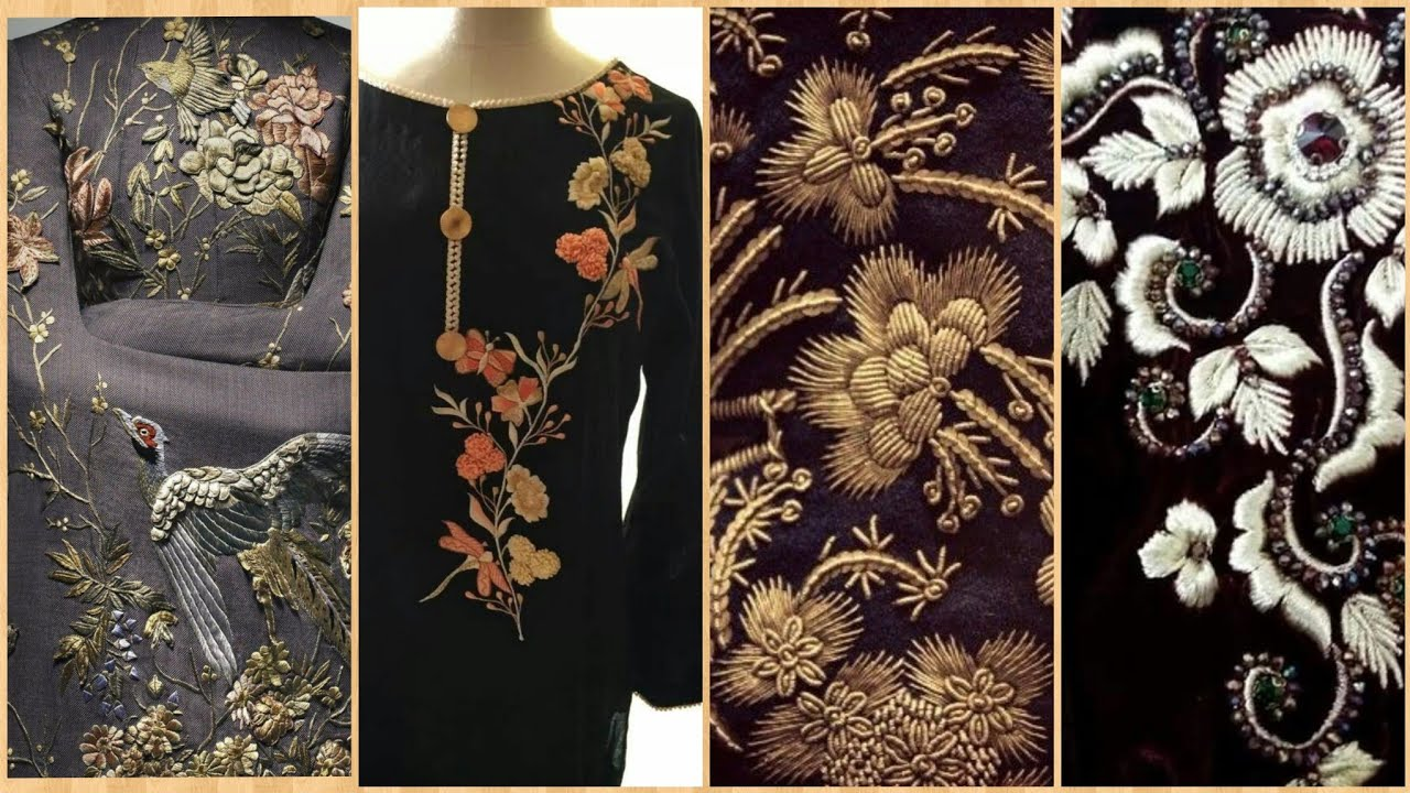 Modern Hand Embroidery Patterns 2019/Urbancouture/Embroidered Suits Designs