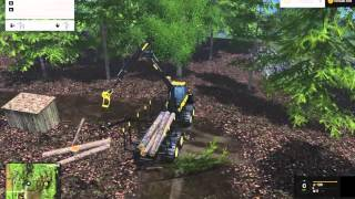 Farming Simulator 2015 Woodcutting #3 Ponsse Buffalo Test