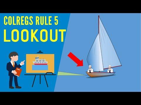 IRPCS Colregs Rule 5 - Lookout