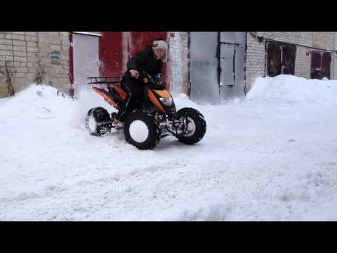 Дрифт на квадроцикле Patron Scaner 250 / Drift atv 230cc
