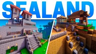 VISITANDO CASAS DEL SERVER - SEALAND #7 / MINECRAFT SERIE MODS