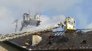 Incendie d'un bâtiment désaffecté à Maubeuge