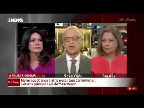 Repórter da Globonews Imitando o Chewbacca ao vivo (HD)
