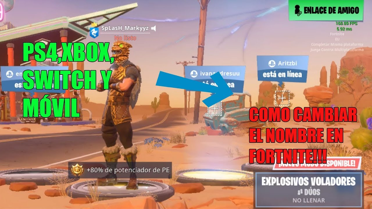 Como Cambiar El Nombre De Fortnite En Ps4 Pc Xbox Nintendo Switch Youtube