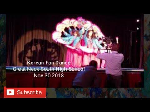 Korean fan dance in Great neck south high school