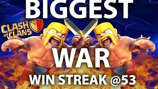 Clash Of Clans - BIGGEST CLASH WAR WIN STREAK - 3 star strategies