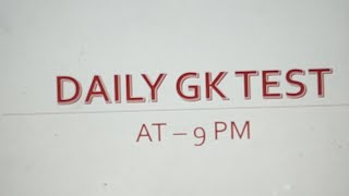 Daily #Gk Test