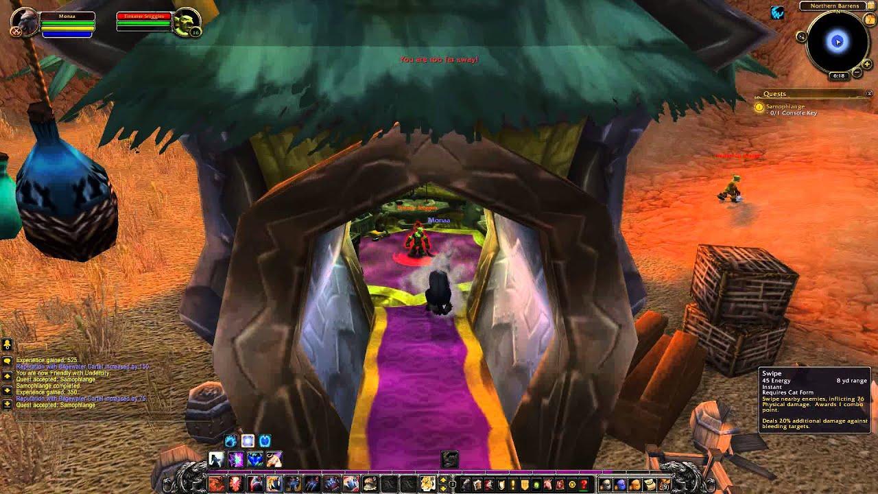Tauren Quest 108: Samophlange 3 (WoW, Horde, Tauren, Druid) - YouTube