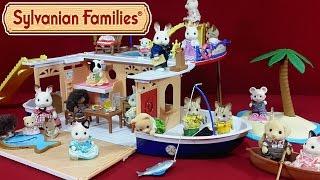 Круїзний корабель Sylvanian Families (Seaside Cruiser House Boat) розпакування + огляд російською