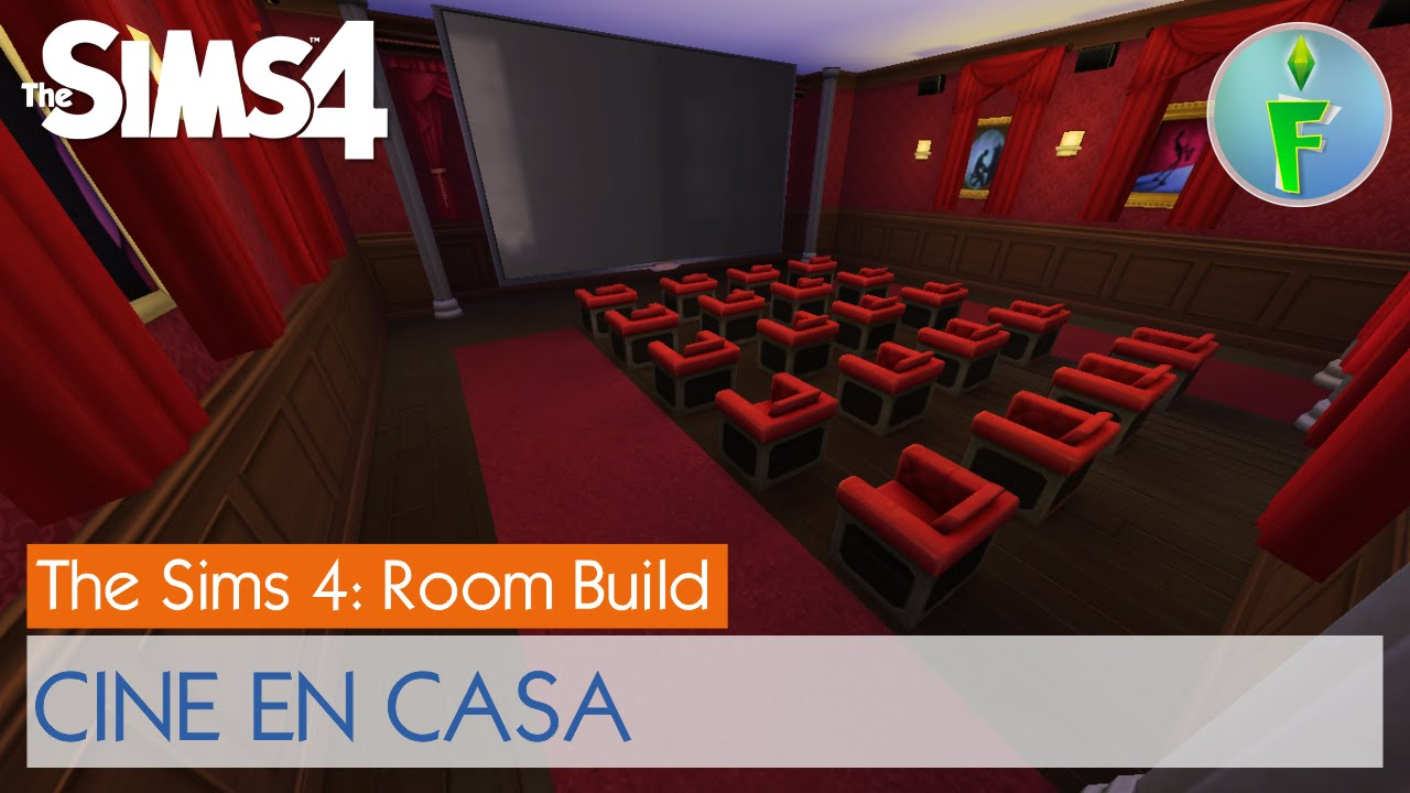 sims 4 room build cine en casa home theatre youtube